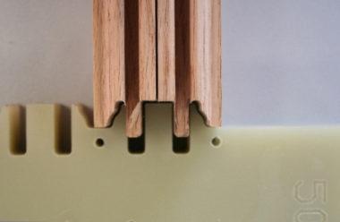 Exact glue application due to precise tools