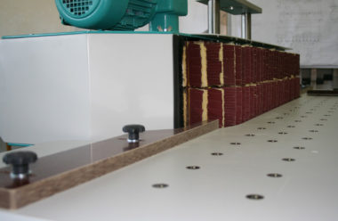 Two sanding areas