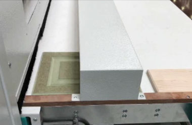 Machine can be randomly loaded with different part dimensions.